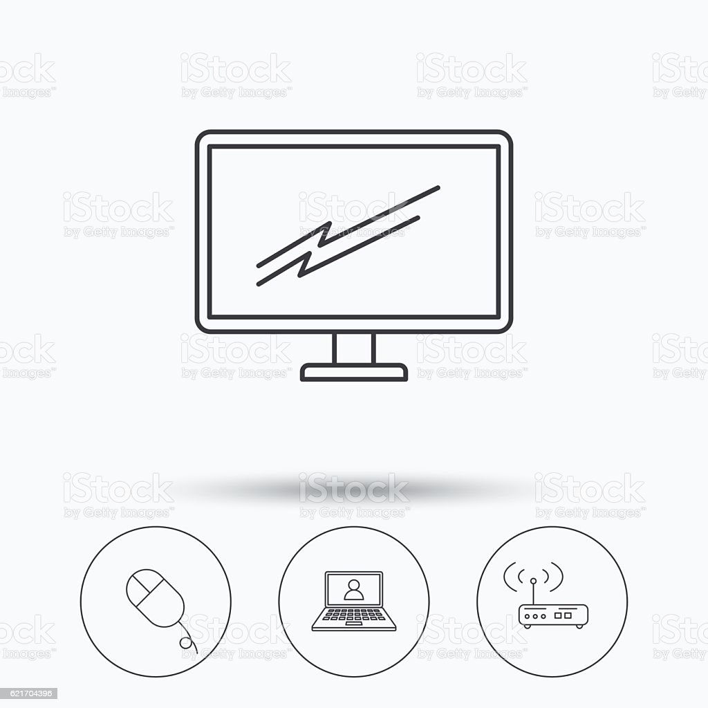 wifi router pc mouse and monitor tv icons stock vector art more Wi-Fi Password wi fi router pc mouse and monitor tv icons royalty free wifi