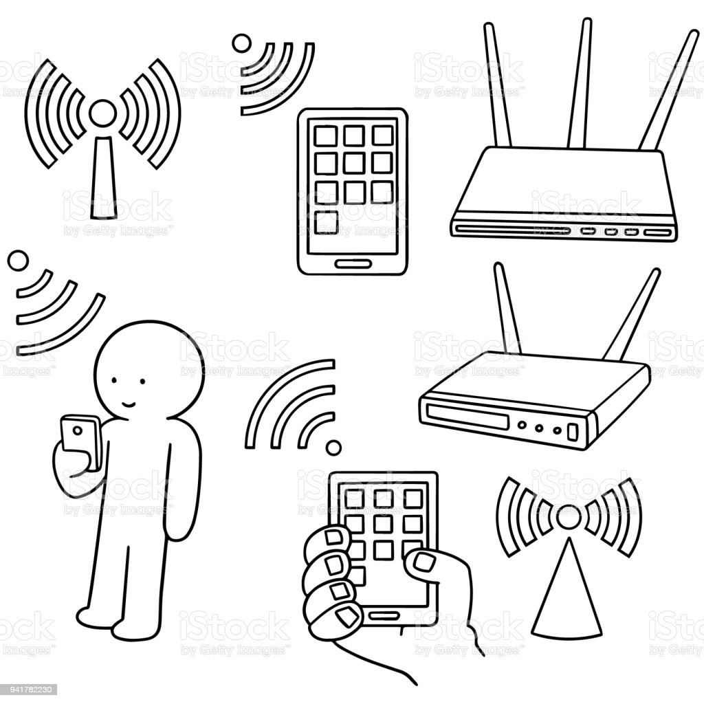 wifi router stock vector art more images of cartoon 941782230 istock Home Wi-Fi wifi router royalty free wifi router stock vector art more images of cartoon