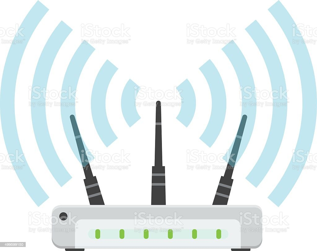 WiFi Router vector image vector art illustration