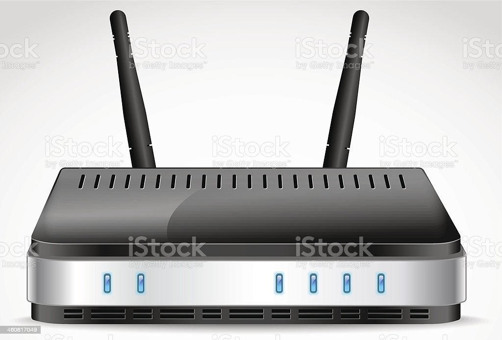 Wi-Fi Router vector vector art illustration
