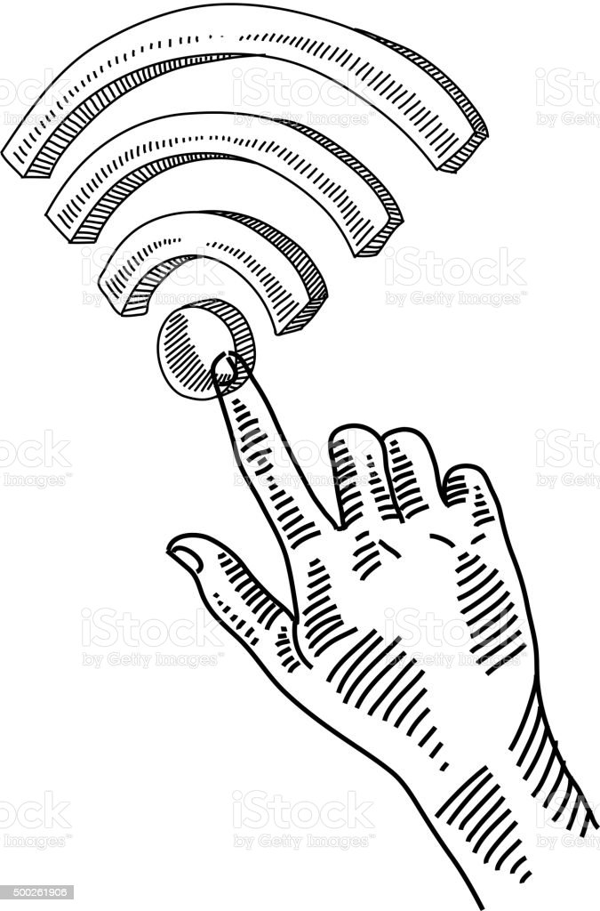 wifi sign drawing stock vector art more images of 2015 500261906 Wi-Fi Connection wi fi sign drawing royalty free wifi sign drawing stock vector art