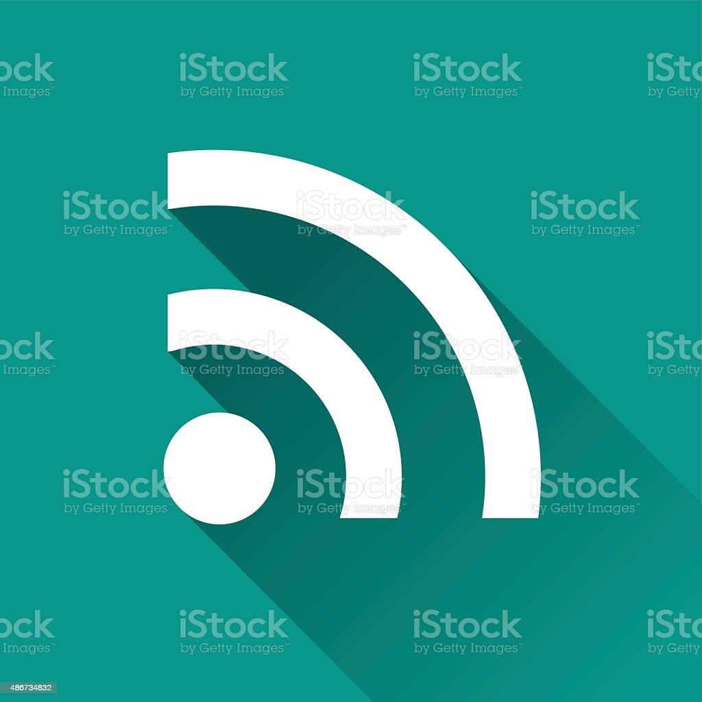 wifi signal flat design icon vector art illustration