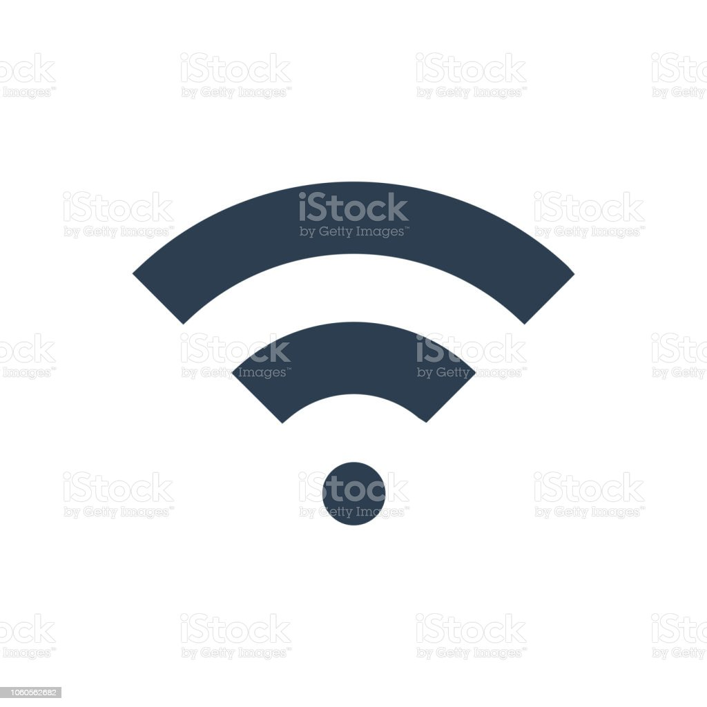 WiFi signal icon vector art illustration