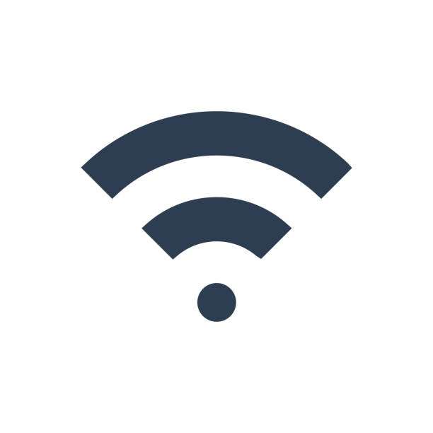 wifi signal icon - wireless technology stock illustrations, clip art, cartoons, & icons