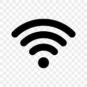 Wi-Fi signal icon. Vector wi fi access symbol for wireless zone sign