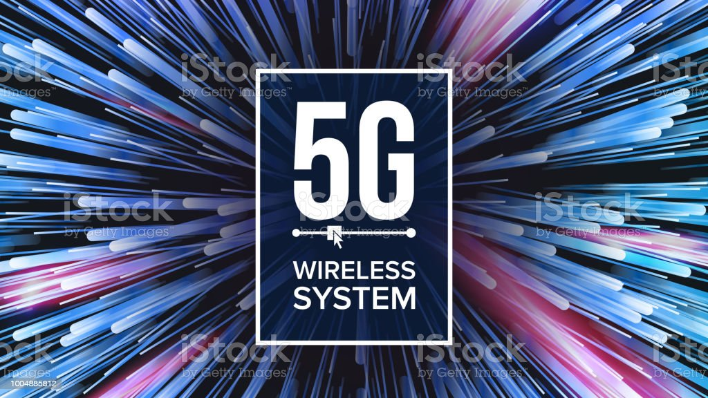 5G Wi-Fi Standard Background Vector. Five, 5th Generation. Signal Transmission. high Speed Innovation Connection. Future Technology Illustration vector art illustration
