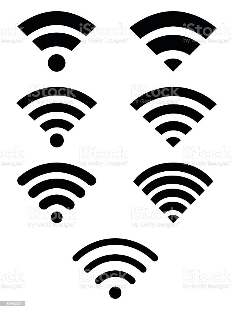 Wifi symbol icon set vector art illustration