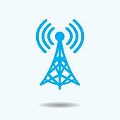 Vector Illustration : WiFi Tower