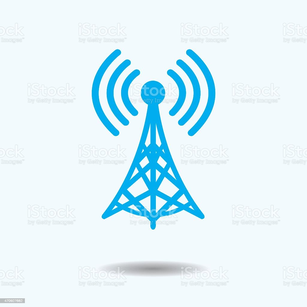 WiFi Tower vector art illustration