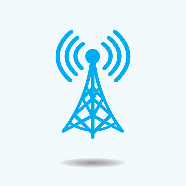 WiFi Tower Vector Illustration : WiFi Tower antenna aerial stock illustrations