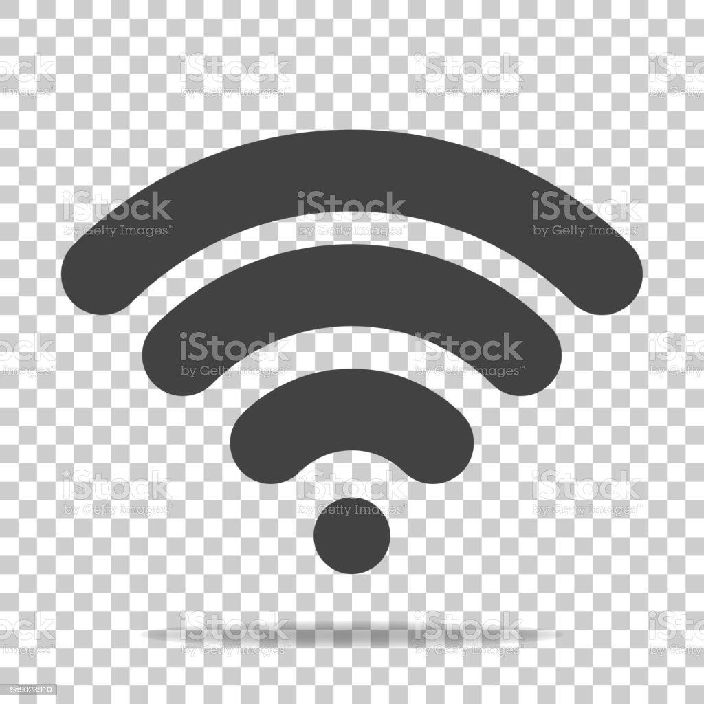 Saydam Arka Plan Wifi Vektör Simgesi Wifi Logosu Illüstrasyon Stok