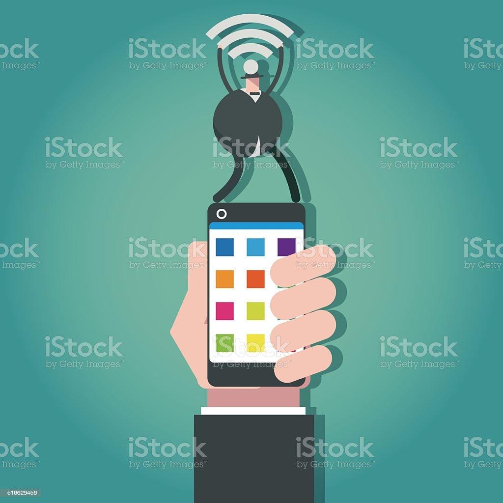 wifi vector art illustration