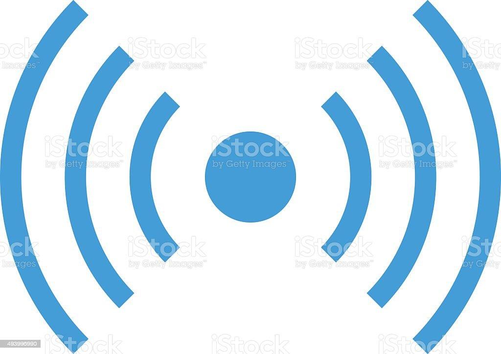 wifi icona del segnale wireless onde radio moderno design piatto minimalista illustrazione. Black Bedroom Furniture Sets. Home Design Ideas