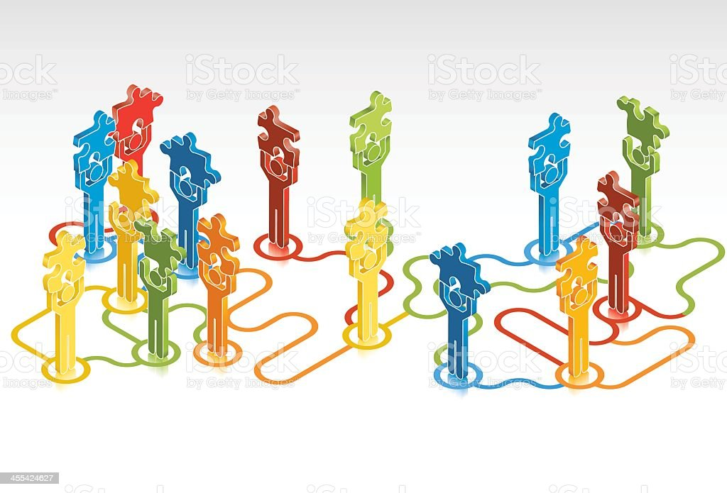 Wiggly Solution Network royalty-free wiggly solution network stock vector art & more images of business