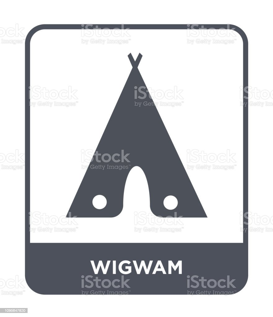 wigwam icon vector on white background, wigwam trendy filled icons from Desert collection vector art illustration