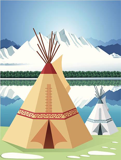 Wigwam Vector Wigwam teepee stock illustrations
