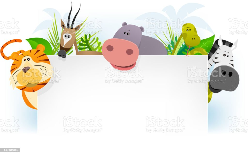 Wild African Animals Background royalty-free stock vector art