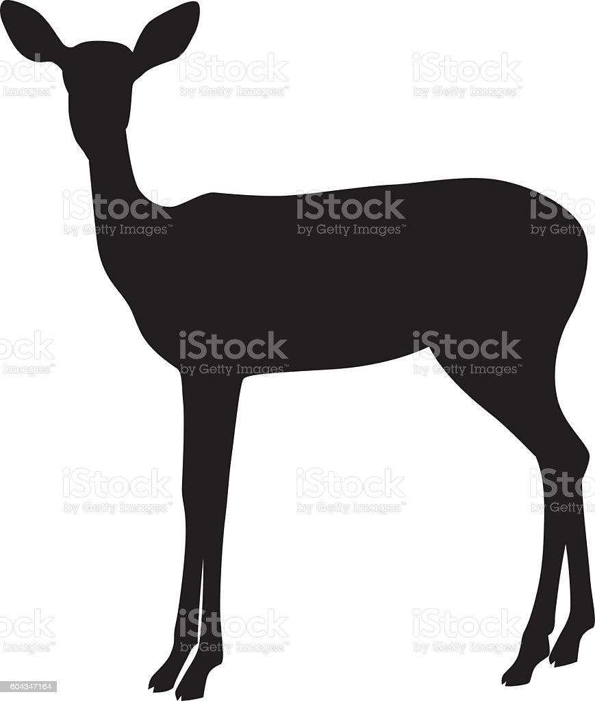 wild african impala silhouette royalty free stock vector art