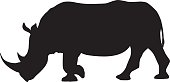 A silhouette of a wild African animal, black isolated on white. Background is transparent so it can be placed onto any color. Traced by hand (not autotraced) from my own travel photography to Zimbabwe, Botswana and South Africa in August 2016. Download includes an AI10 EPS (CMYK) and a high resolution JPEG (RGB).
