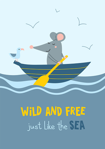 Wild and free just like the sea card