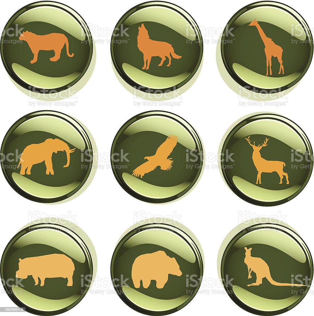 Wild Animal Badges royalty-free wild animal badges stock vector art & more images of animal