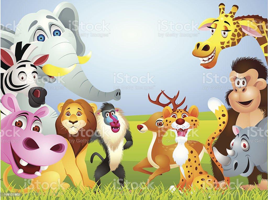 Wild animal cartoon royalty-free wild animal cartoon stock vector art & more images of animal