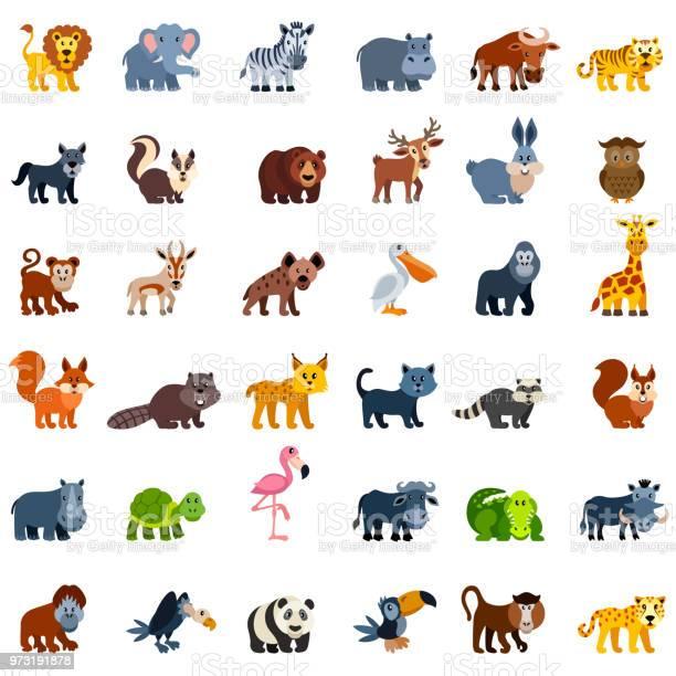 Wild animal characters vector id973191878?b=1&k=6&m=973191878&s=612x612&h=zl6xy7g6wugcl54ykllghziutzgwhn camyuu0tgiq4=