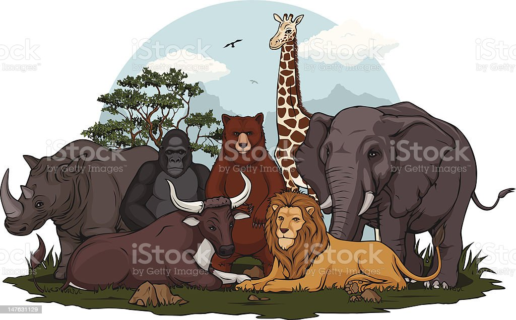 Wild animal collection royalty-free stock vector art