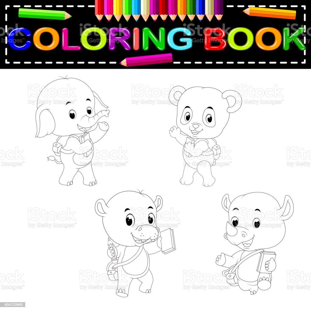 Livre De Coloriage Animaux Sauvages Vecteurs Libres De Droits Et Plus D Images Vectorielles De Activite Istock