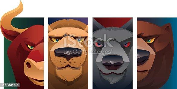 istock wild animal heads 472334599