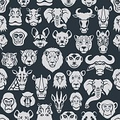 Wild Animal Seamless Pattern