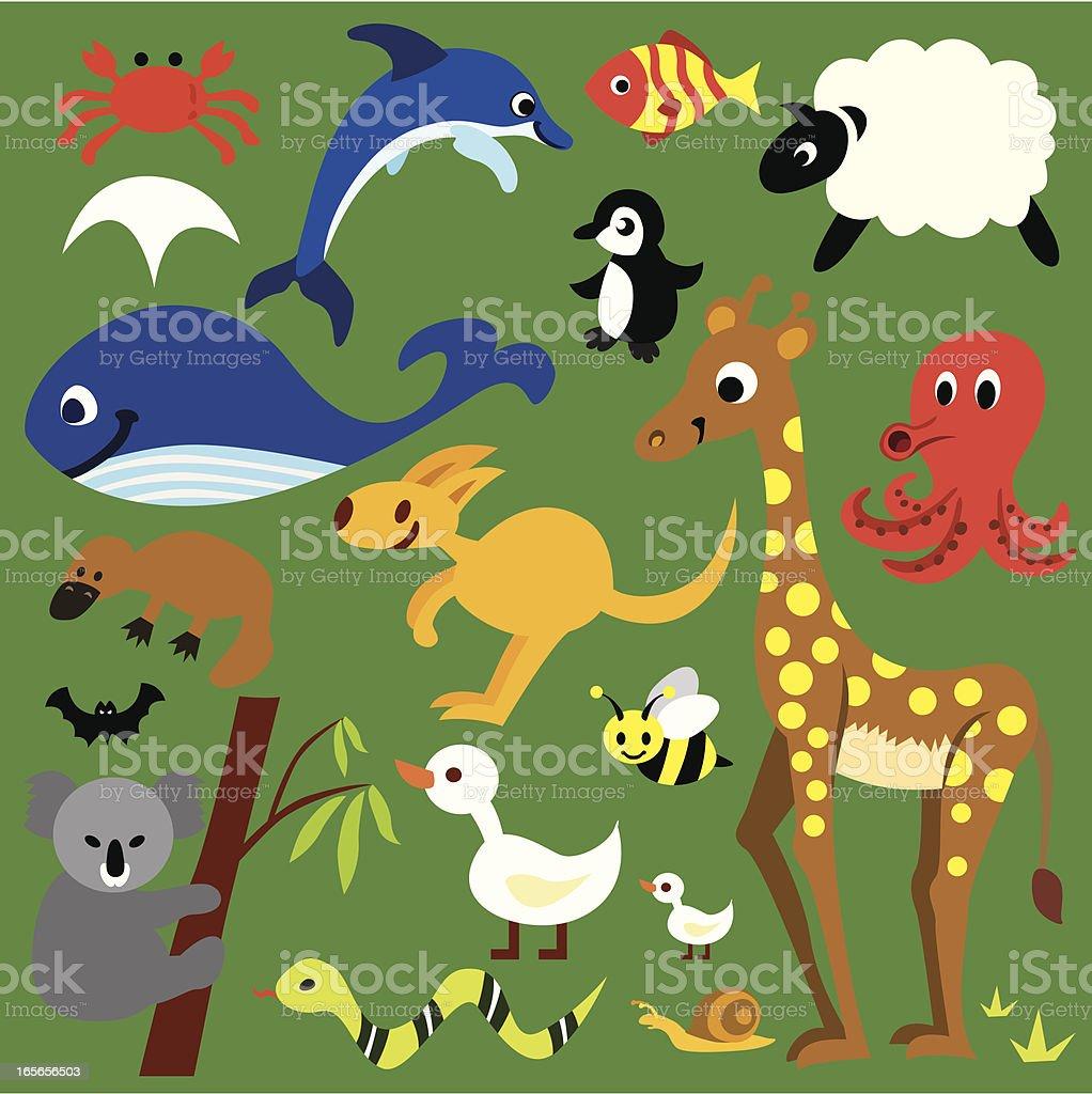 wild animal set royalty-free wild animal set stock vector art & more images of animal