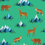 wild animals and mountains