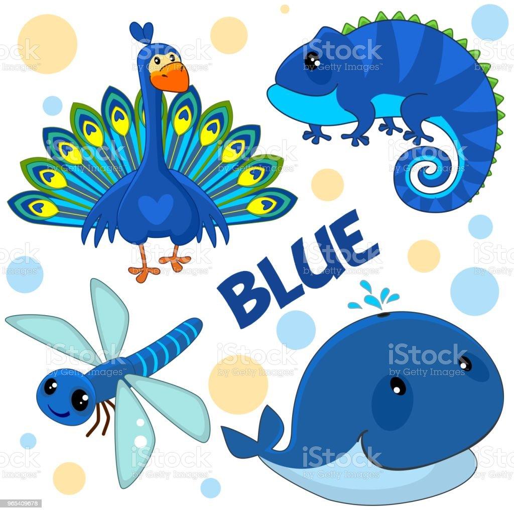 Wild animals are blue. wild animals are blue - stockowe grafiki wektorowe i więcej obrazów czołgać się royalty-free