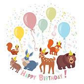 Wild Animals Birthday Party Invitation