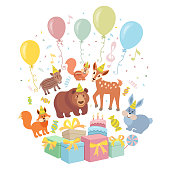 Wild Animals. Birthday Party Invitation