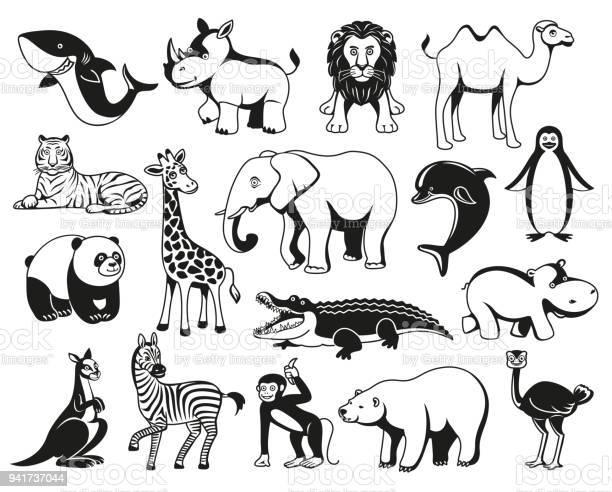 Wild animals black and white graphic silhouette vector id941737044?b=1&k=6&m=941737044&s=612x612&h=r6qweqackgo251slnxoq1mfkizpgaymww ddvkwnvd8=