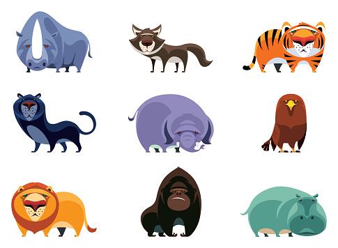 wild animals characters