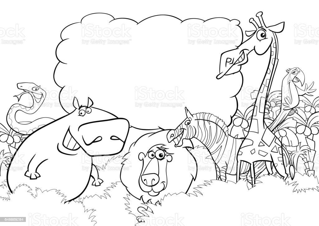 Wilde Tiere Malvorlagen Stock Vektor Art Und Mehr Bilder Von