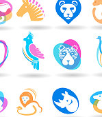 Wild Animals Icon set.