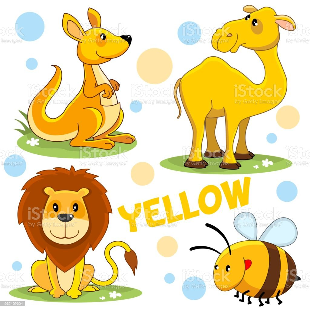 Wild animals of yellow color. wild animals of yellow color - stockowe grafiki wektorowe i więcej obrazów australia royalty-free