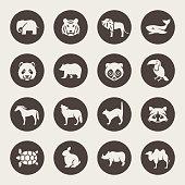 Animals vector icon set