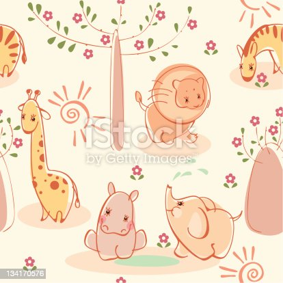 wallpaper with wild animals. Fauna of Australia, and Africa