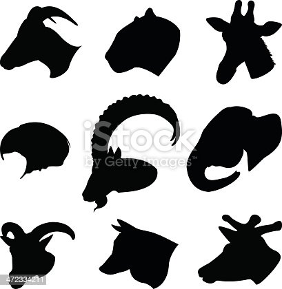 vector file of wild animal