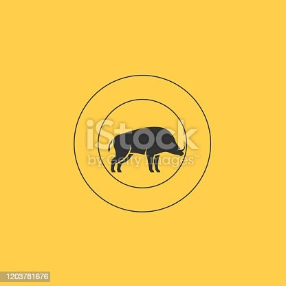Wild Boar Illustration Vector Template. Suitable for Creative Industry, Multimedia, entertainment, Educations, Shop, and any related business.
