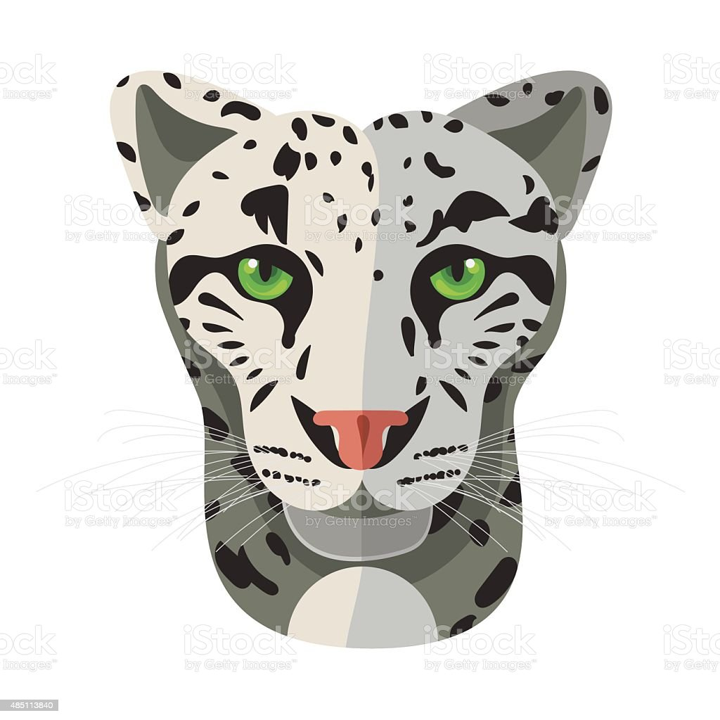 royalty free snow leopard clip art vector images illustrations rh istockphoto com  snow leopard face clipart