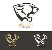 wild cat. Vector design element