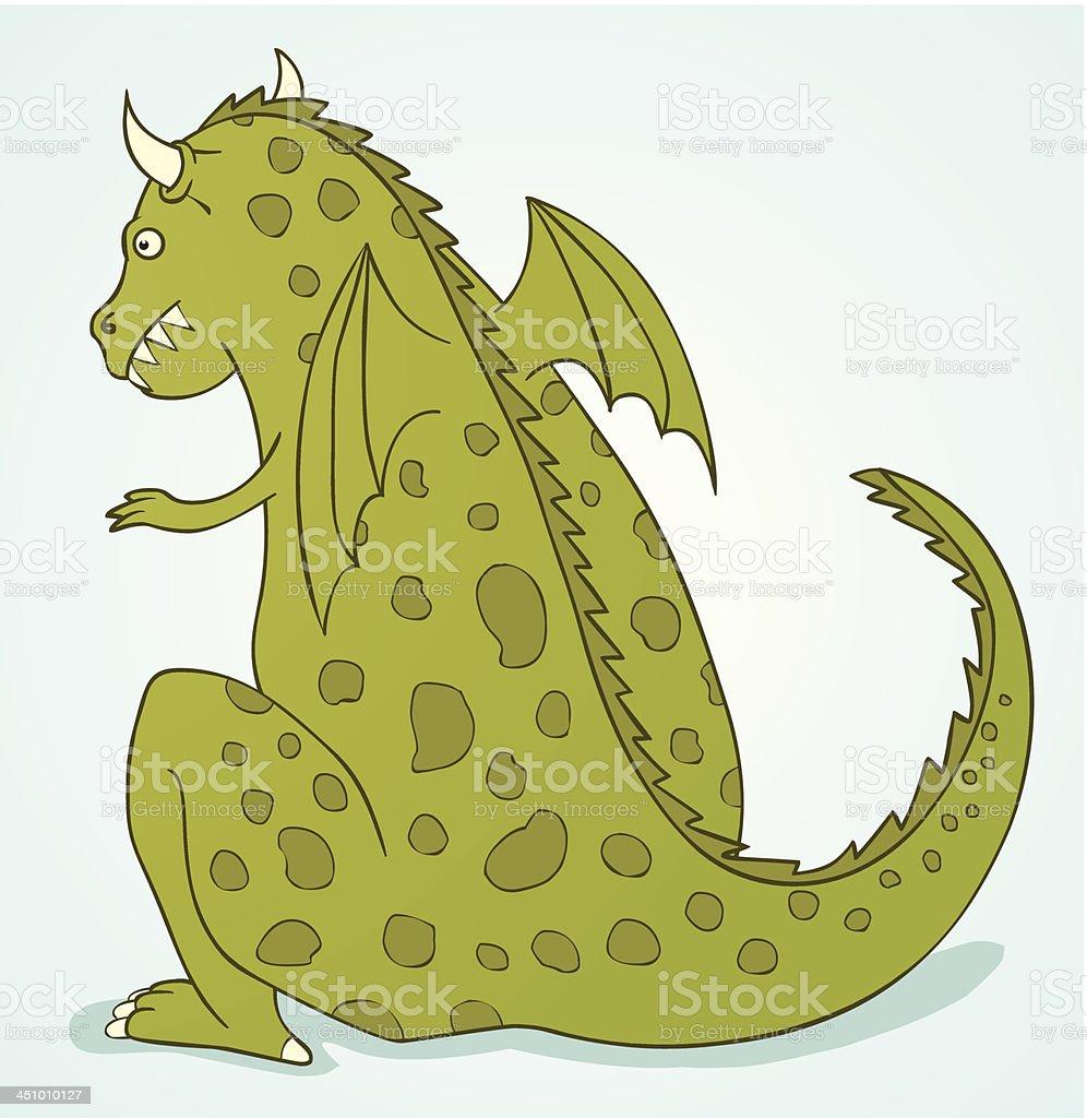 wild dragon vector art illustration