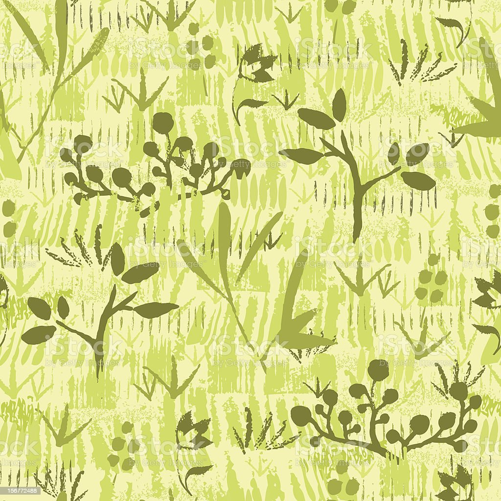 Wild Field Painted Texture Seamless Pattern Background royalty-free stock vector art