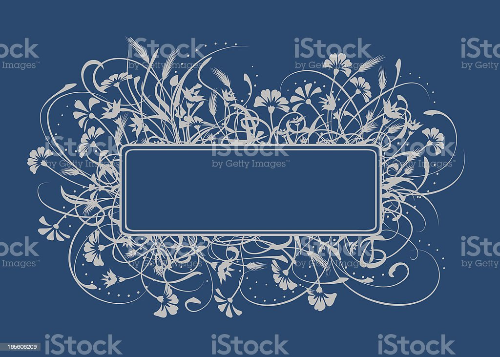 Wild Flower Frame royalty-free stock vector art
